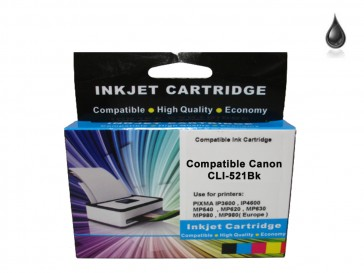 Canon CLI-521BK Black Compatible Ink 9ml