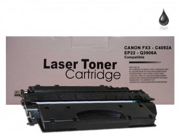 Canon FX3 / HP C4092A / Canon EP-22 / HP C3906A Black Universal Compatible Toner :2700pages
