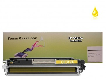 HP CE312A (HP 126A) Yellow Compatible Toner : 1000pages