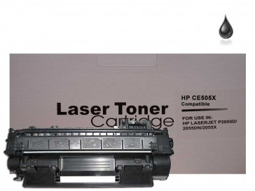 HP CE505X (HP 05X) High Capacity Black Compatible Toner : 6500pages