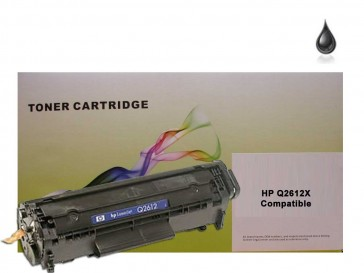 HP Q2612X (HP 12X) High Capacity Black Compatible Toner :2500pages