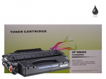 HP Q5949X (HP 49X) / Canon 708 Black Compatible Toner :6000pages