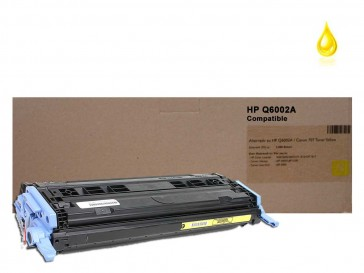 HP Q6002A (HP 124A) Yellow Compatible Toner :2000pages