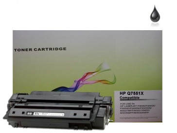 HP Q7551X (HP 51X) High Capacity Black Compatible Toner :13000pages