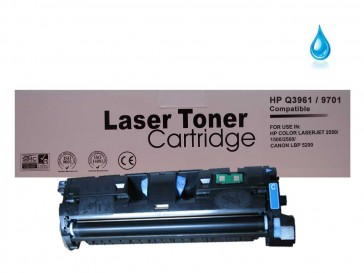 HP Q3961A (HP 122A) / Canon 701C Cyan Remanufacured Toner :4000pages