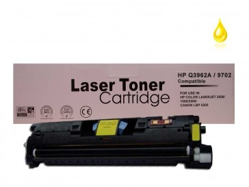 HP Q3962A (HP 122A) / Canon 701Y Yellow Remanufacured Toner : 4000pages