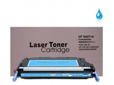 HP Q6471A (HP 502A) Cyan Remanufacured Toner : 4500pages