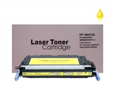 HP Q6472A (HP 502A) Yellow Remanufacured Toner :4500pages
