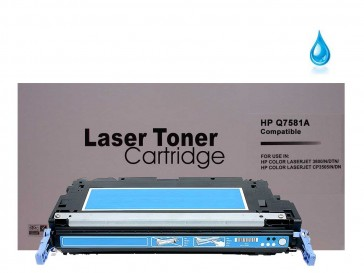 HP Q7581A (HP 503A) Cyan Remanufacured Toner : 7000pages