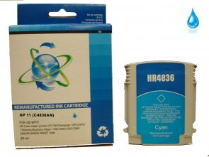 HP 11  C4836AN  Cyan Remanufacured Ink 29ml