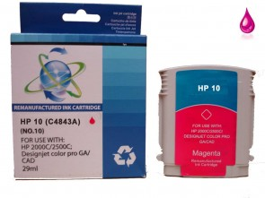 HP 10  C4843A  Magenta Remanufacured Ink 29ml