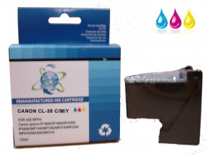 Canon CL-38 TriColour Remanufacured Ink 12ml
