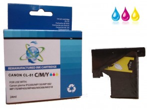 Canon CL-51 TriColour Remanufacured Ink 24ml