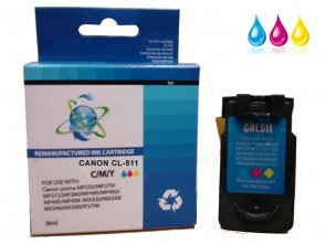 Canon CL-511 TriColour Remanufacured Ink 9ml