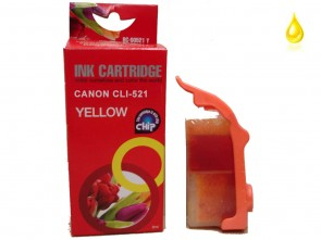Canon CLI-521Y Yellow Compatible Ink 10ml