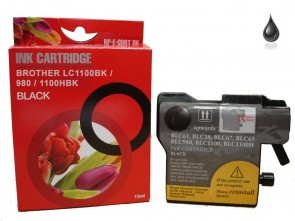Brother LC-1100BK / LC-980BK Black Compatible Ink 15ml
