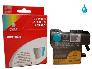 Brother LC-1100C / LC-980C Cyan Compatible Ink 11ml