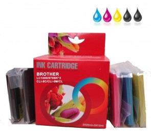Brother LC-1000BK / LC-970BK *2 / LC-1000BK / LC-970BK C/M/Y Multipack Compatible Ink