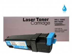 Dell 1320 (593-10259 KU051) Cyan Compatible Toner :2000pages