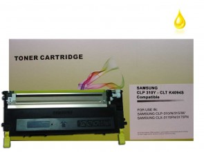 Samsung CLT-Y4092S High Capacity Yellow Compatible Toner :1500pages