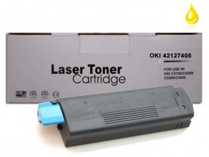 OKI 42127405 (C5100) High Capacity Yellow Compatible Toner :5000pages