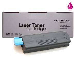 OKI 42127406 (C5100) High Capacity Magenta Compatible Toner :5000pages