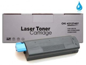 OKI 42127407 (C5100) High Capacity Cyan Compatible Toner :5000pages