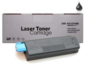 OKI 42127408 (C5100) High Capacity Black Compatible Toner :5000pages